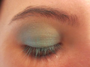 Random Makeup Pics, and Green Blog Look 009
