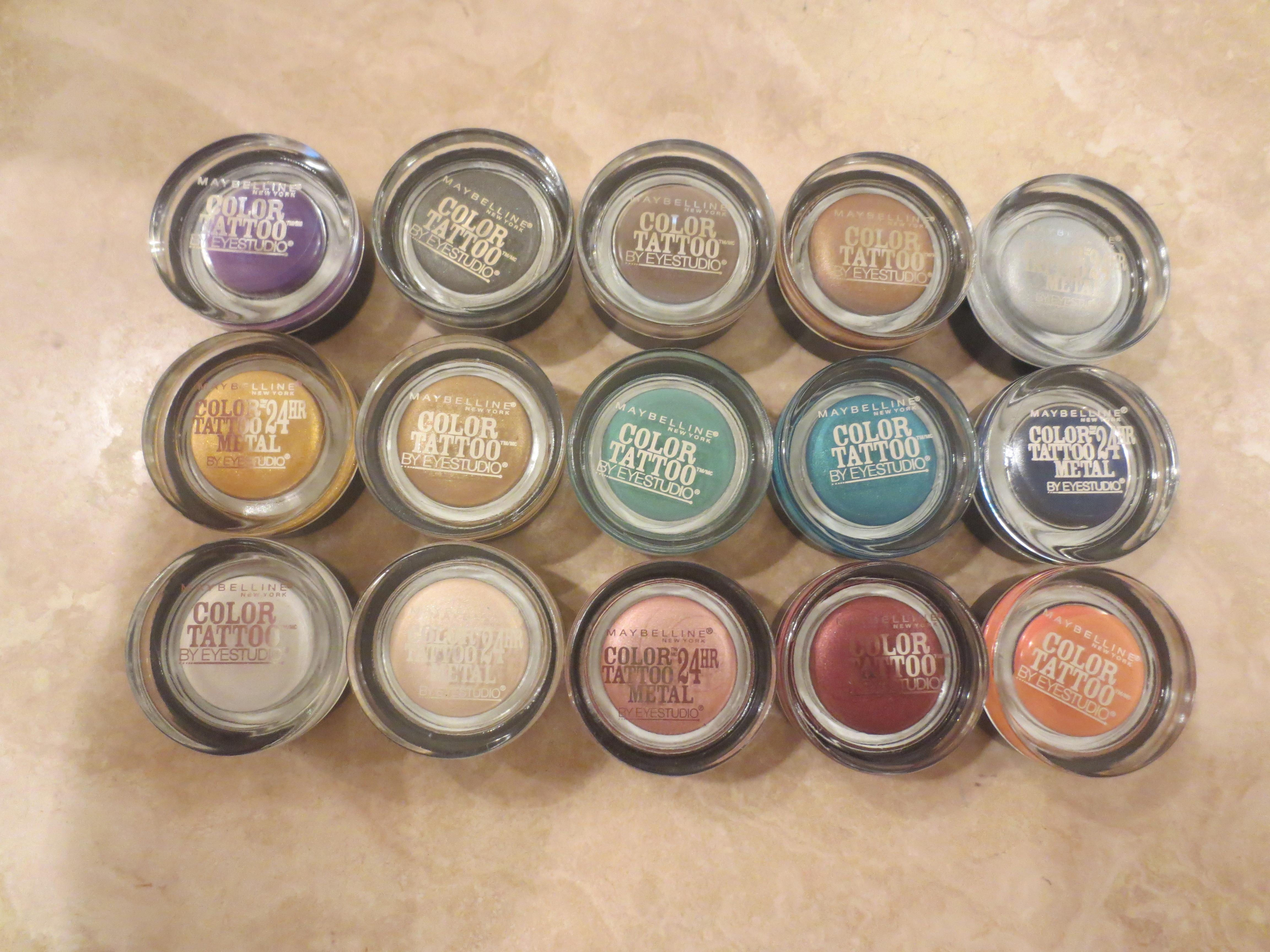 100 eye studio color tattoo metal expert makeup for Maybelline color tattoo gel eyeshadow